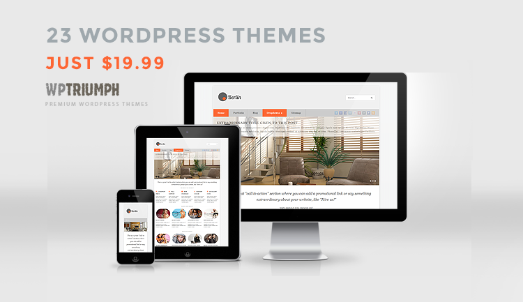 wordpress responsive themes - banner