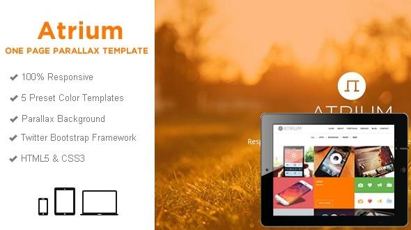 Responsive WordPress Templates - atrium_html_wide