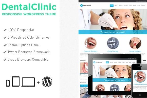 Responsive WordPress Templates - dentalClinicWPTheme
