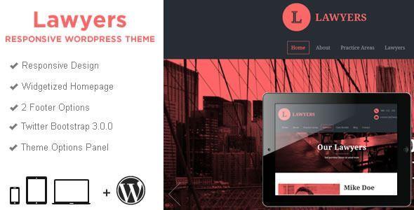 Responsive WordPress Templates - lawyers-wp