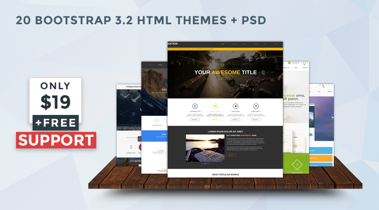 bootstrap website templates - banner