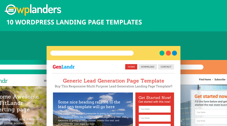wordpress landing page template - banner