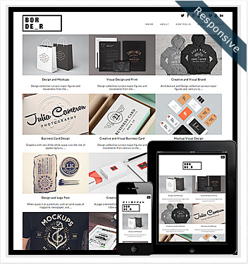 creative wordpress themes - border-grid-theme