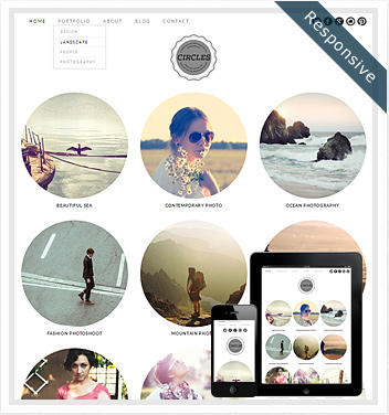creative wordpress themes - circles-theme-wordpress