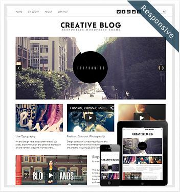 creative wordpress themes - creative-blog-theme