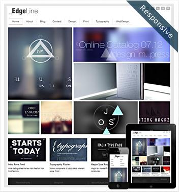 creative wordpress themes - edgeline-theme