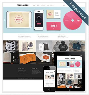 creative wordpress themes - freelancer-theme
