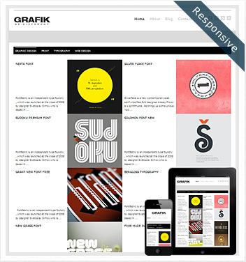 creative wordpress themes - grafik-wordpress-theme