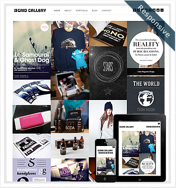 creative wordpress themes - grid-gallery-theme