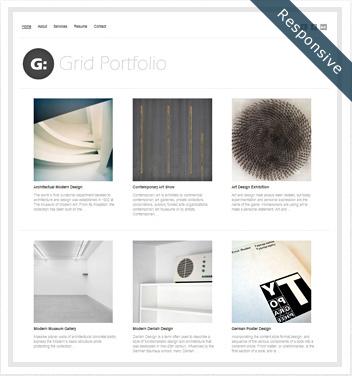 creative wordpress themes - grid-portfolio
