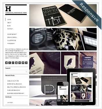 creative wordpress themes - horizontal-grid-wordpress