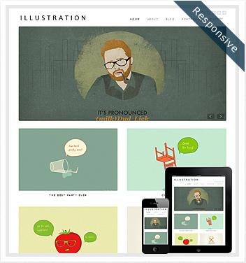 creative wordpress themes - illustration-wordpress-theme