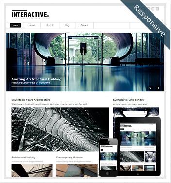 creative wordpress themes - interactive-responsive-theme