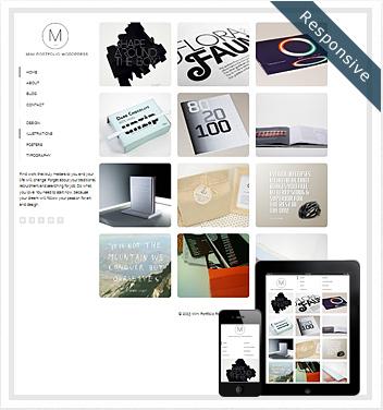 creative wordpress themes - mini-portfolio-wordpress-theme