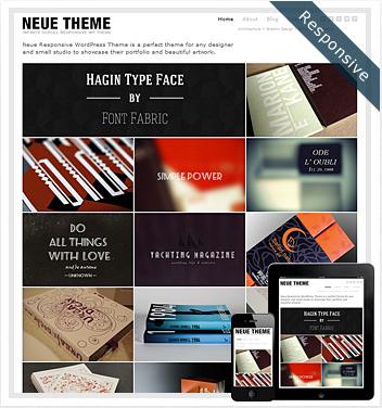 creative wordpress themes - neue-infinite-scroll-theme