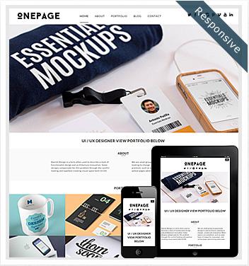 creative wordpress themes - onepage-theme
