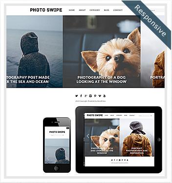 creative wordpress themes - photo-swipe-theme