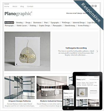 creative wordpress themes - planographic-theme