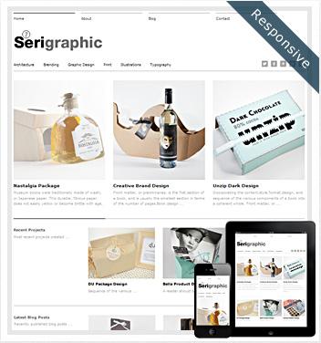 creative wordpress themes - serigraphic-theme