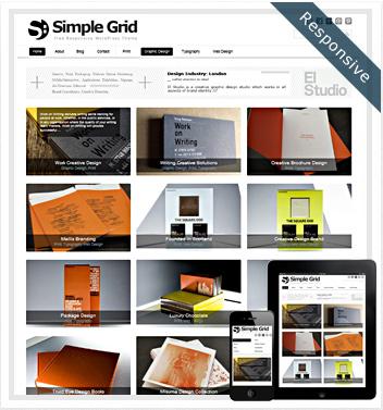 creative wordpress themes - simple-grid-theme
