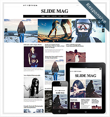 creative wordpress themes - slide-mag-theme