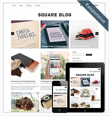 creative wordpress themes - square-blog-theme