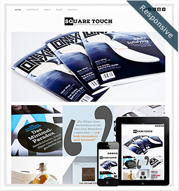 creative wordpress themes - square-touch-theme
