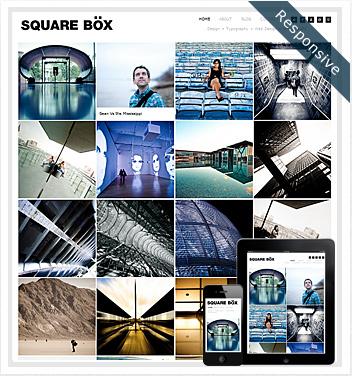 creative wordpress themes - squarebox-responsive-theme