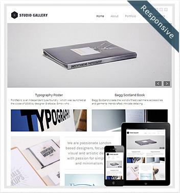 creative wordpress themes - studio-gallery-wordpress