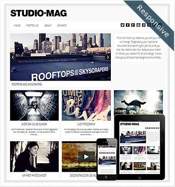 creative wordpress themes - studio-mag-responsive