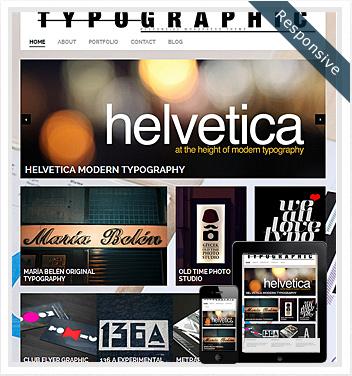 creative wordpress themes - typographic-wordpress-theme