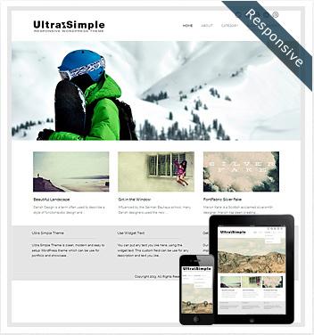 creative wordpress themes - ultrasimple-responsive-theme1