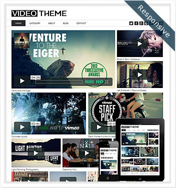 creative wordpress themes - video-theme