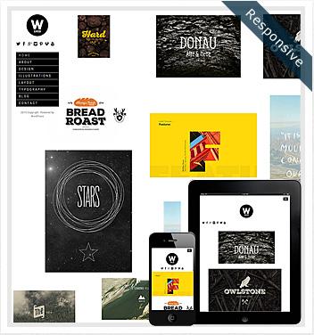 creative wordpress themes - wide-grid-theme