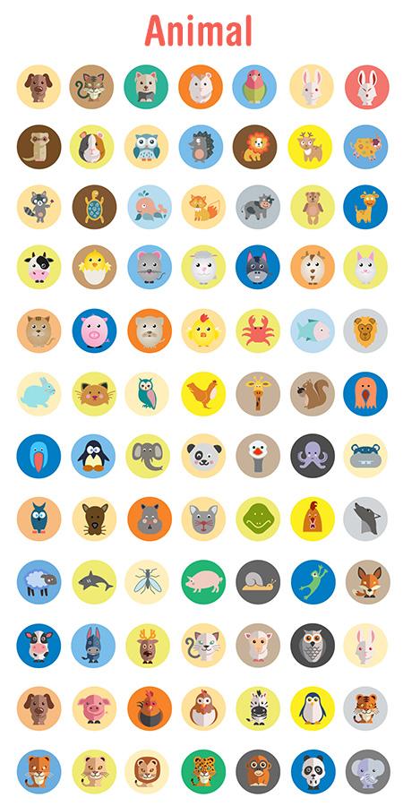 travel vector icons - animal