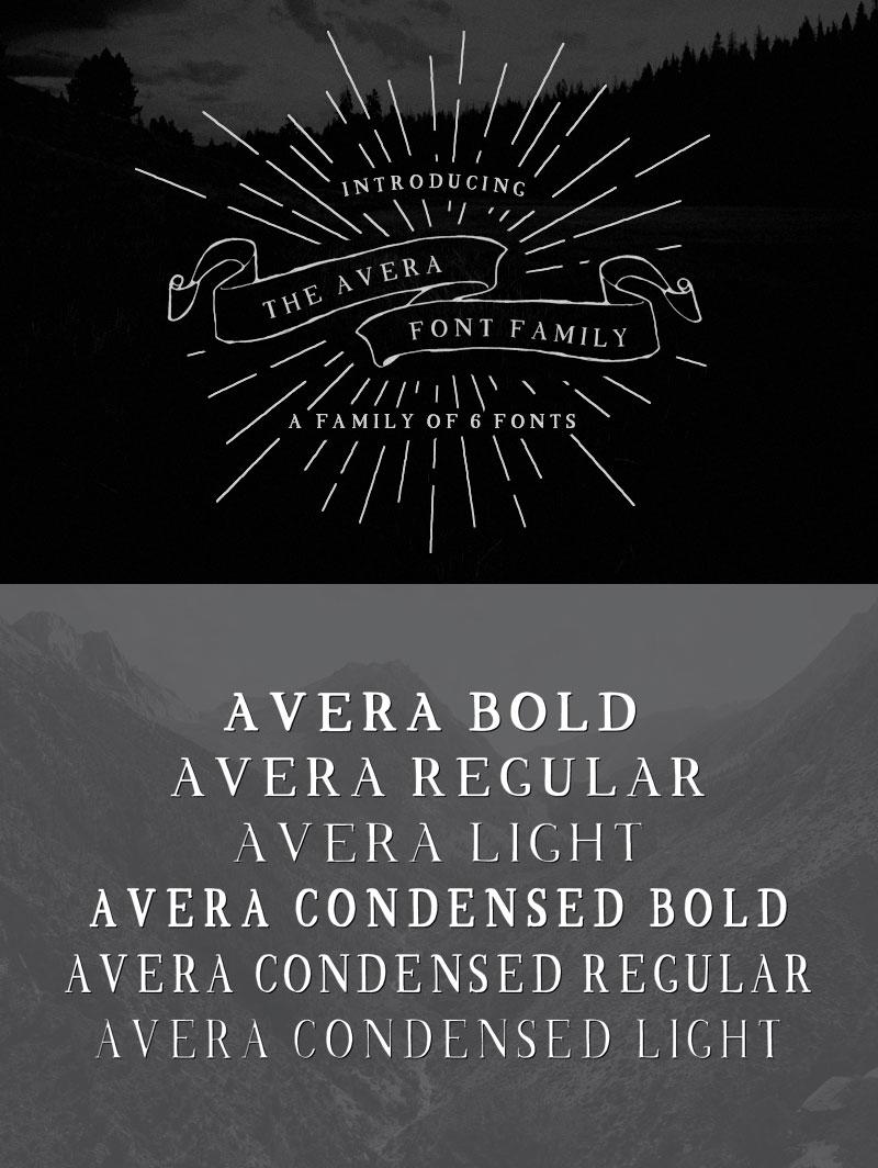 handwritten calligraphy font - avera-01