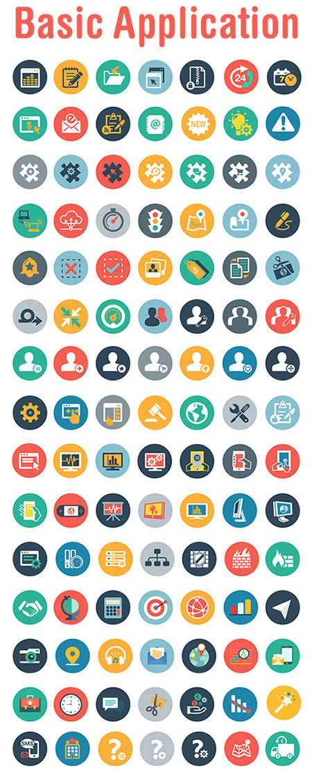 travel vector icons - basic-application