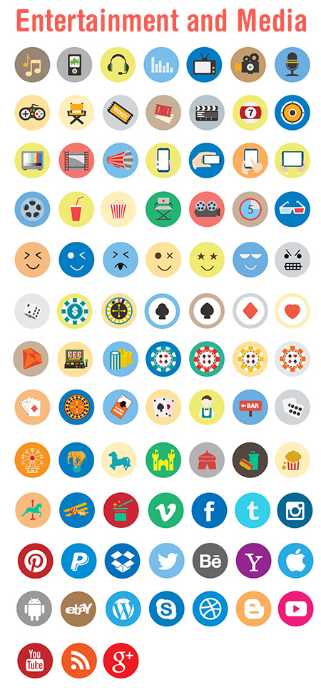 travel vector icons - entertainment_and_media