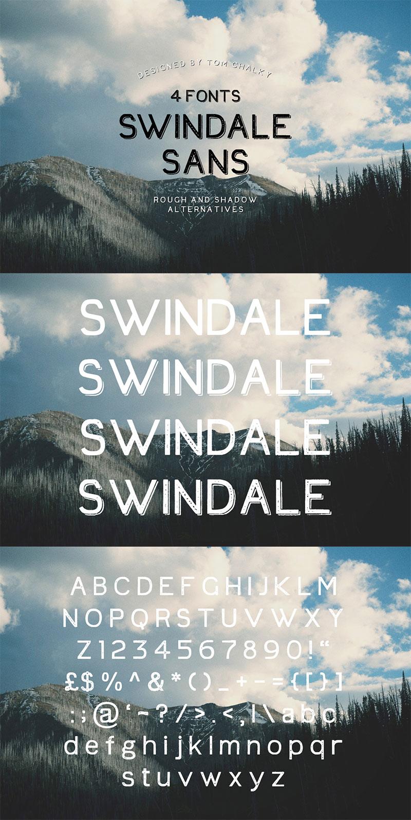 handwritten calligraphy font - swindale-sans-01