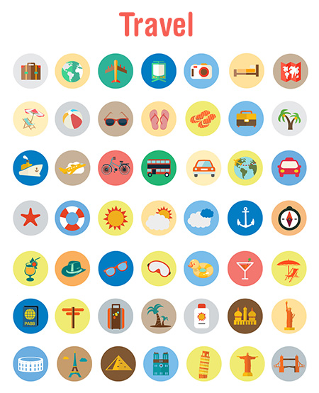 travel vector icons - travel