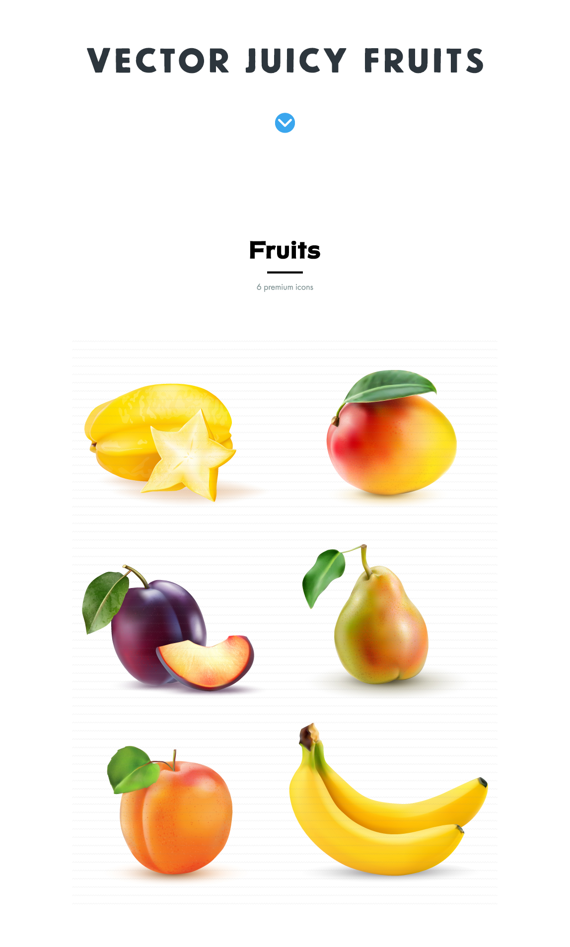 free vintage vector - realistic-fruits