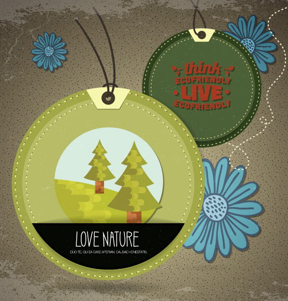 free stock photos - Vector illustration with nature and landscape