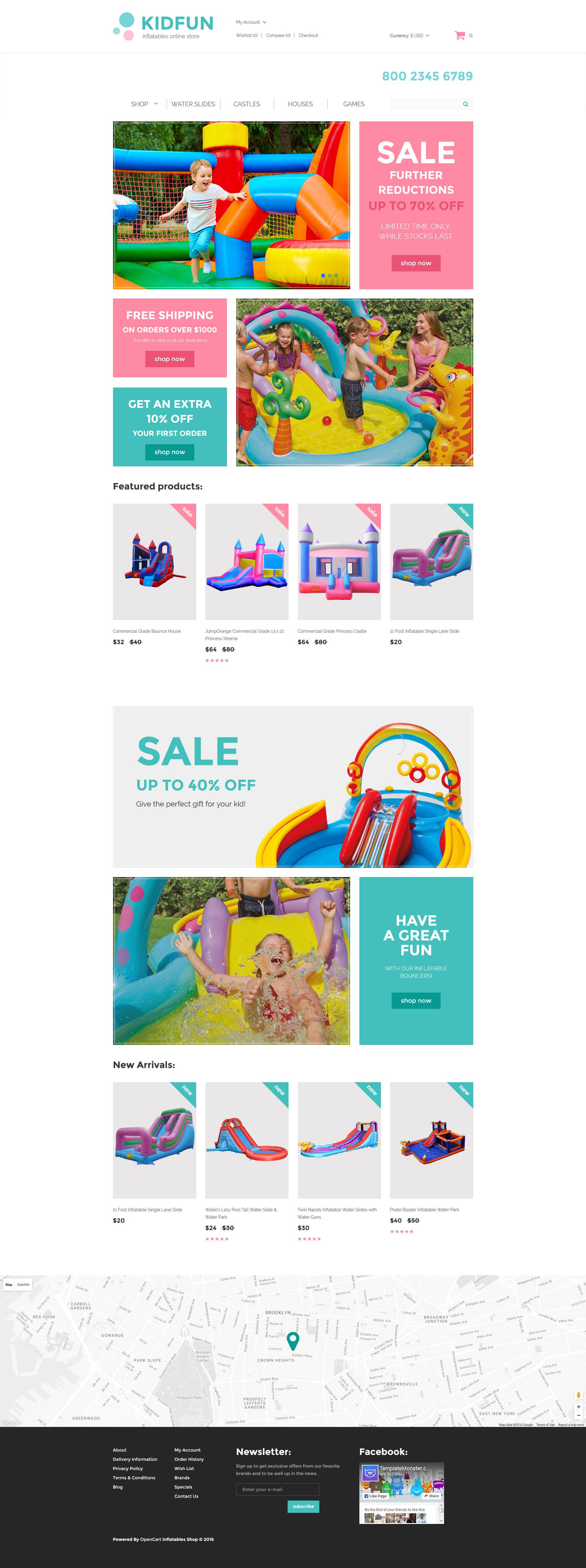 KidFun - Kids Toys & Games Store OpenCart Template -