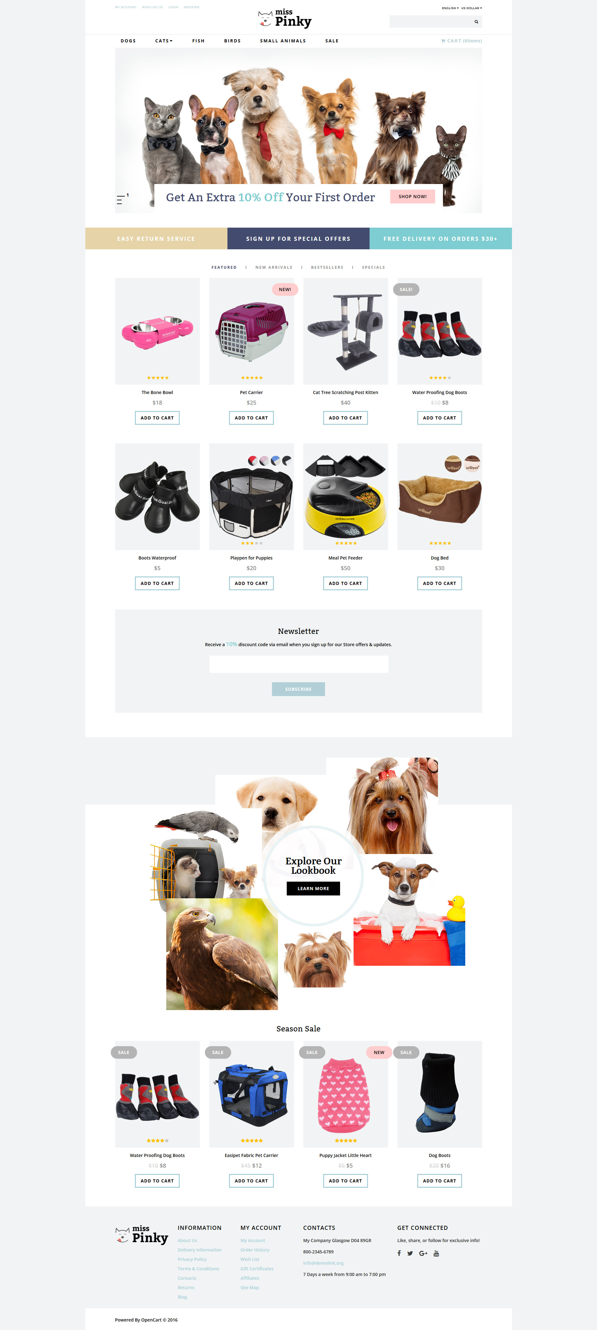 Miss Pinky - Animal & Pet OpenCart Template