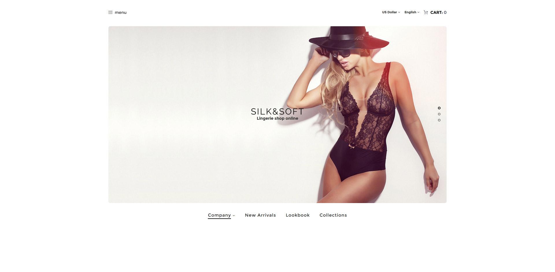Silk & Soft - Underwear & Lingerie Online Store OpenCart Template