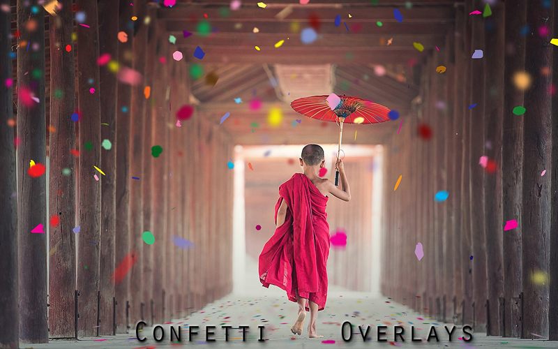 Magnificent Overlays - Confetti Overlays