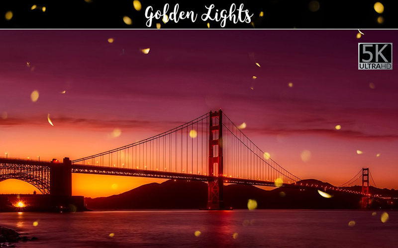 Magnificent Overlays - Golden Lights