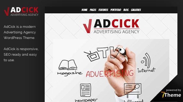 Adcick WordPress Theme- Launch Your Website