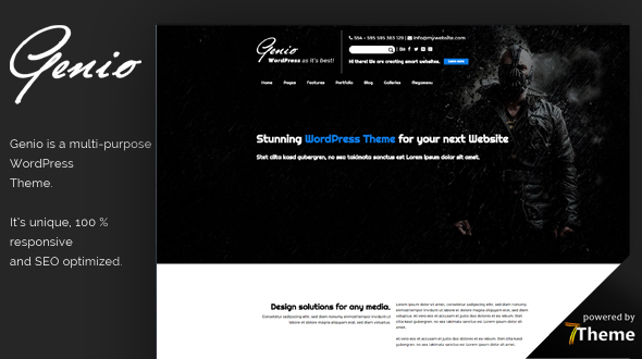 Genio WordPress Theme- Launch Your Website