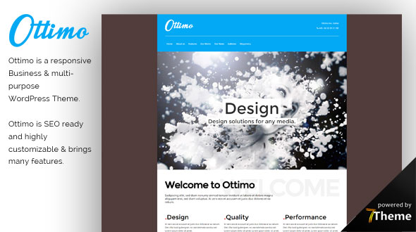 Ottimo WordPress Theme- Launch Your Website
